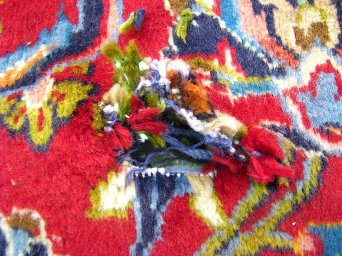Handmade Kashan 9' x 13' Rug - 4