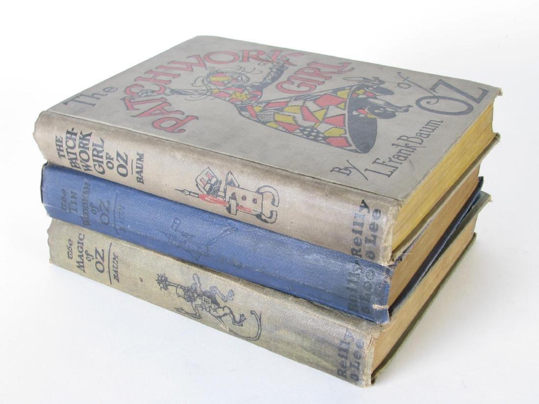 Three L. Frank Baum Hardcover 'Oz' Books