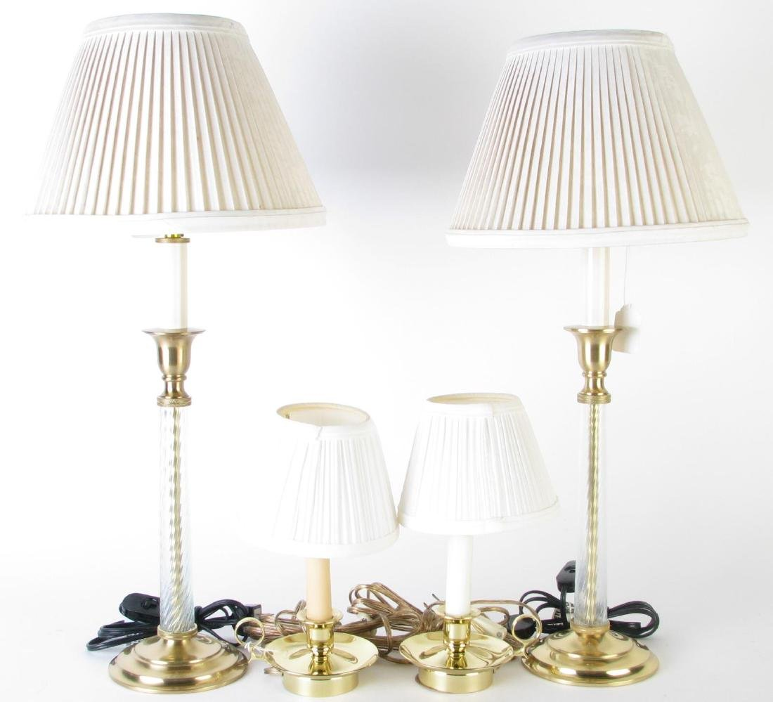 Two Pair of Dresser Lamps