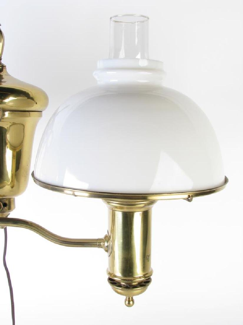 Brass Student Lamp, Double Shade - 2