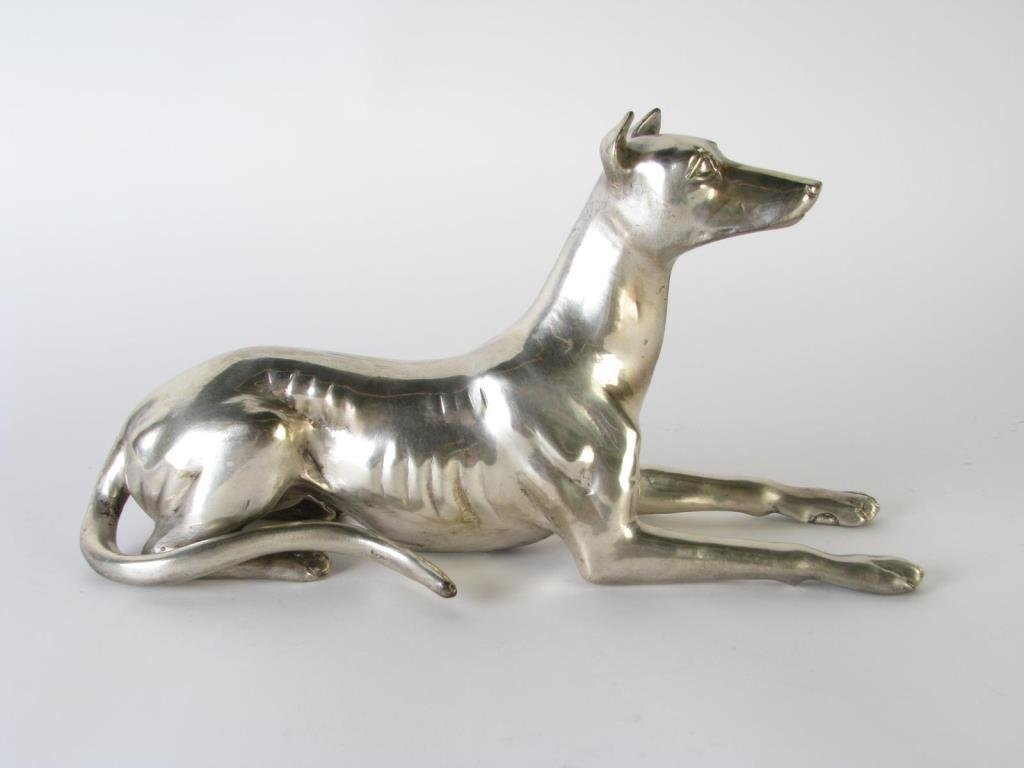 Silverplate Greyhounds Pair - 3
