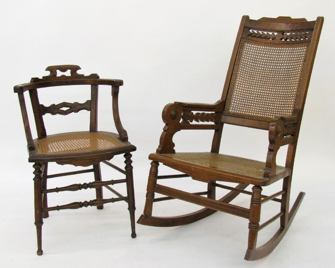 Victorian Chair and Rocking Chair