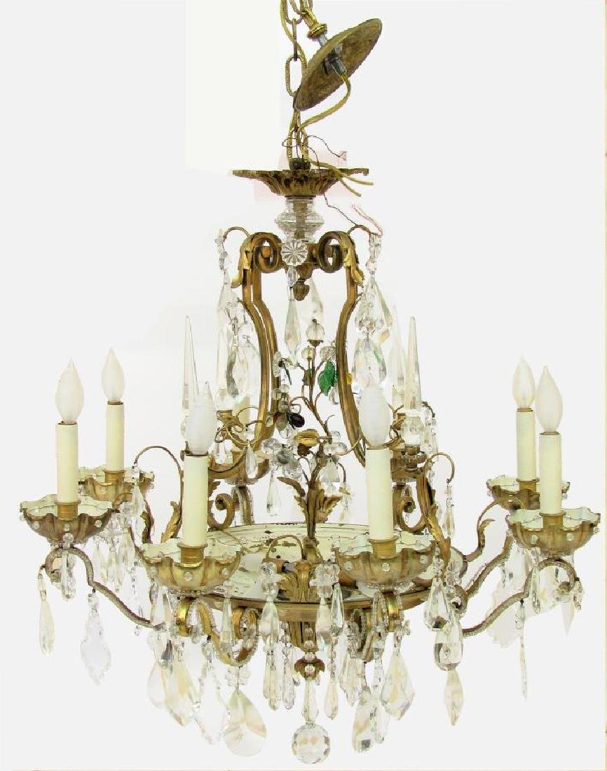 Maurice Crystal Eight-Light Chandelier