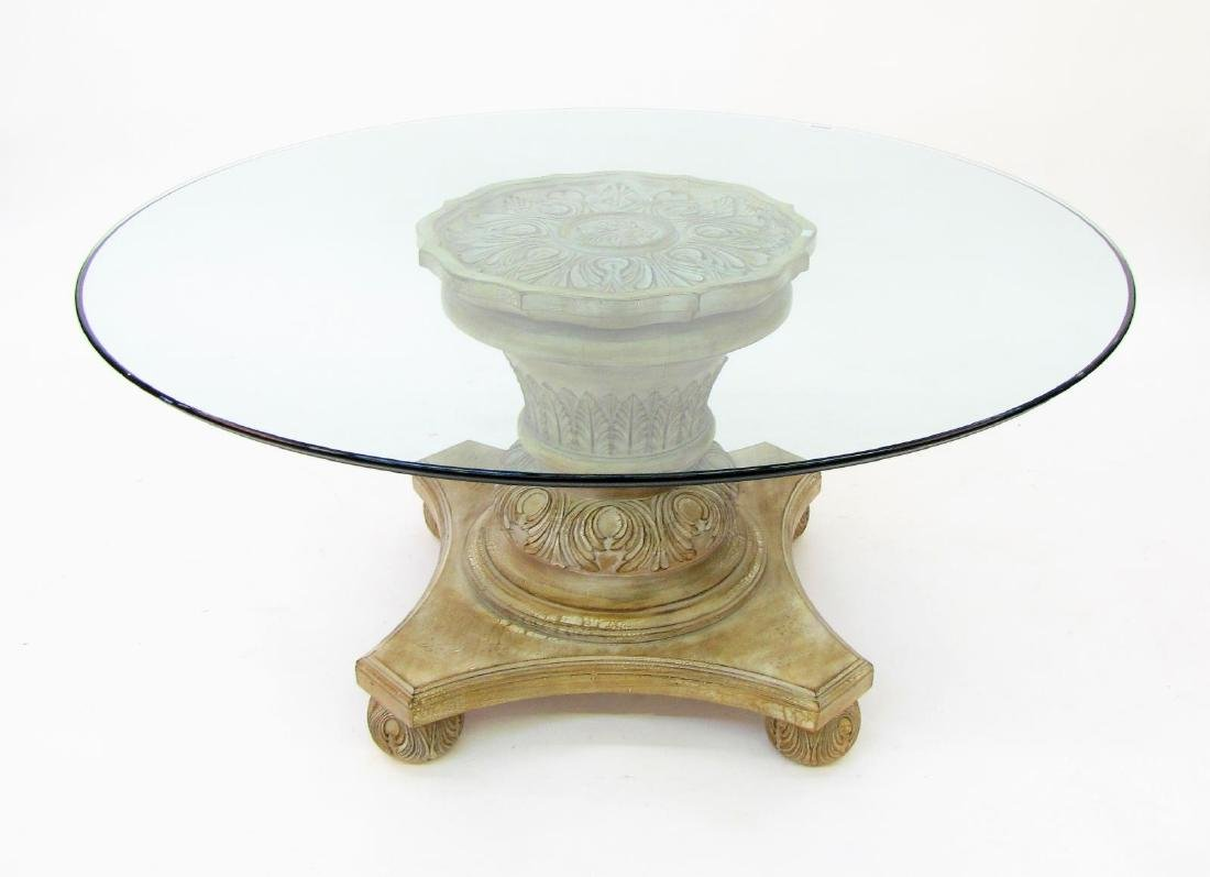 Century Furniture Glass Top Cocktail Table