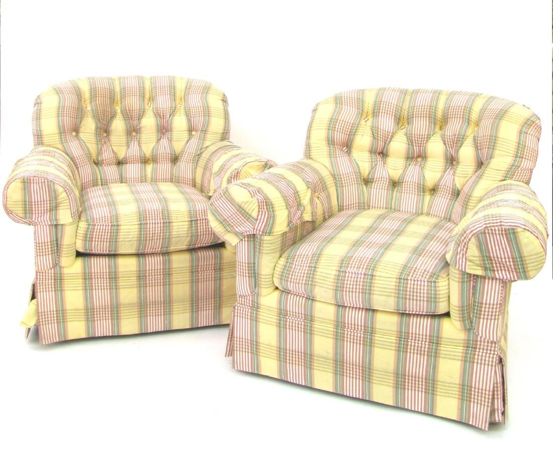 Pair of Century Upholstered Arm Chairs