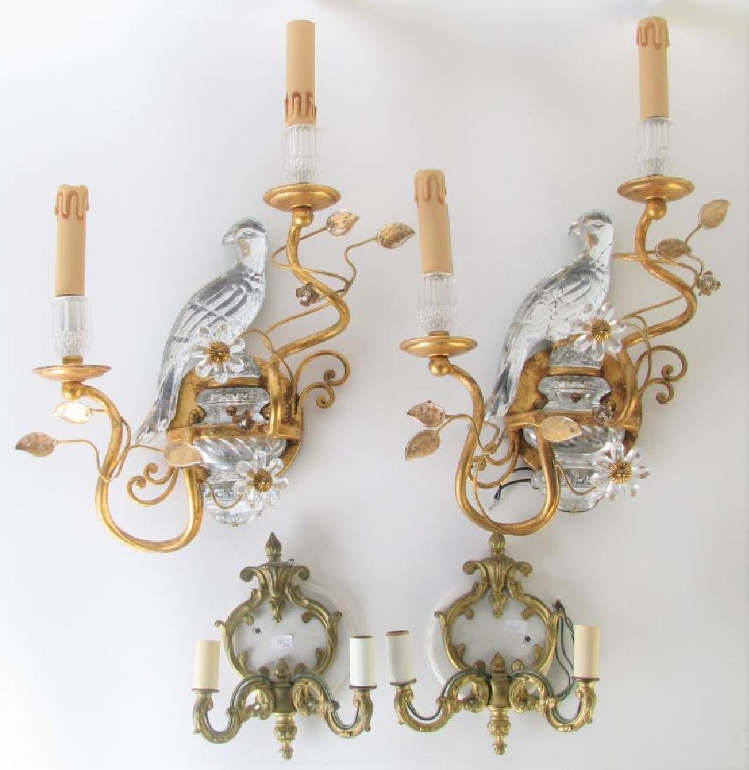 Two Pair of Electric Wall Candle Sconces