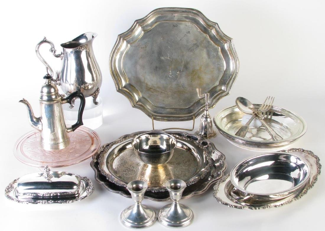 Group of Weighted Sterling and Silverplate