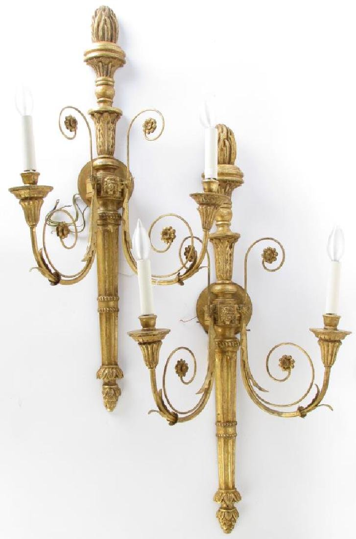 Pair of Vaughan Electric Wall Candle Sconces