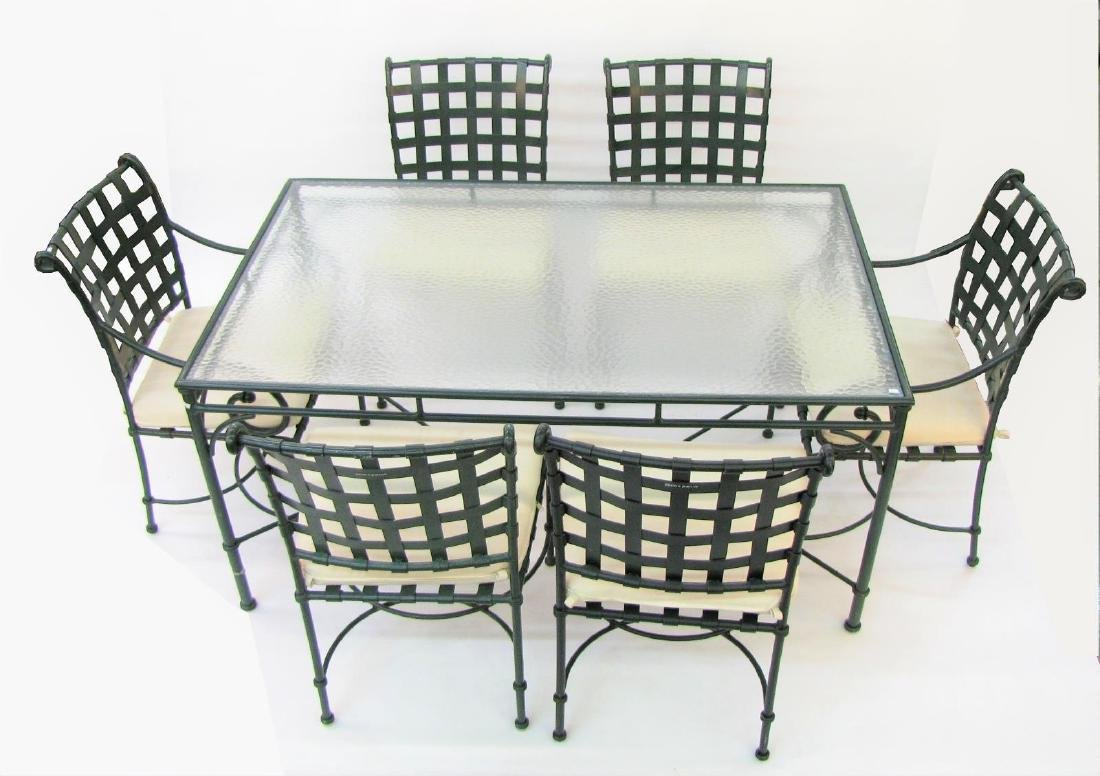 Brown Jordan Cast Metal Patio Dining Set