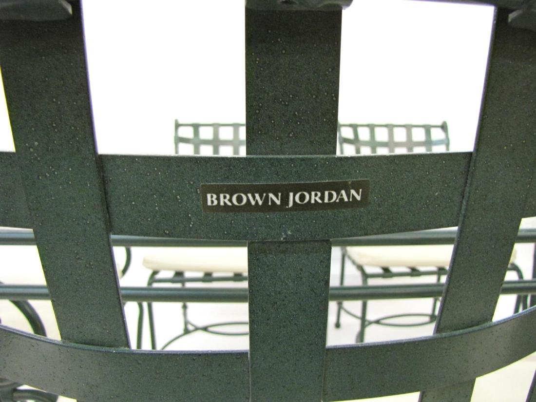 Brown Jordan Cast Metal Patio Dining Set - 3