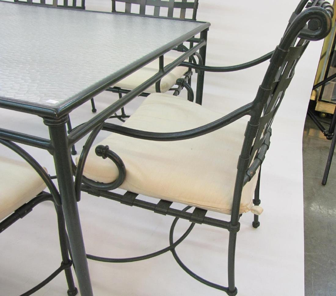 Brown Jordan Cast Metal Patio Dining Set - 7