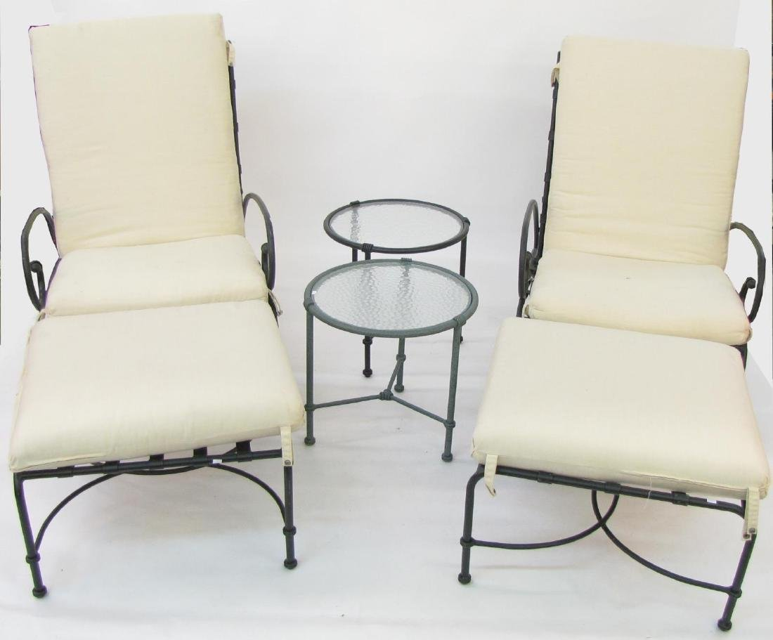 Brown Jordan Cast Metal Lounge Chairs