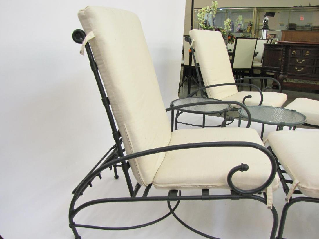 Brown Jordan Cast Metal Lounge Chairs - 3