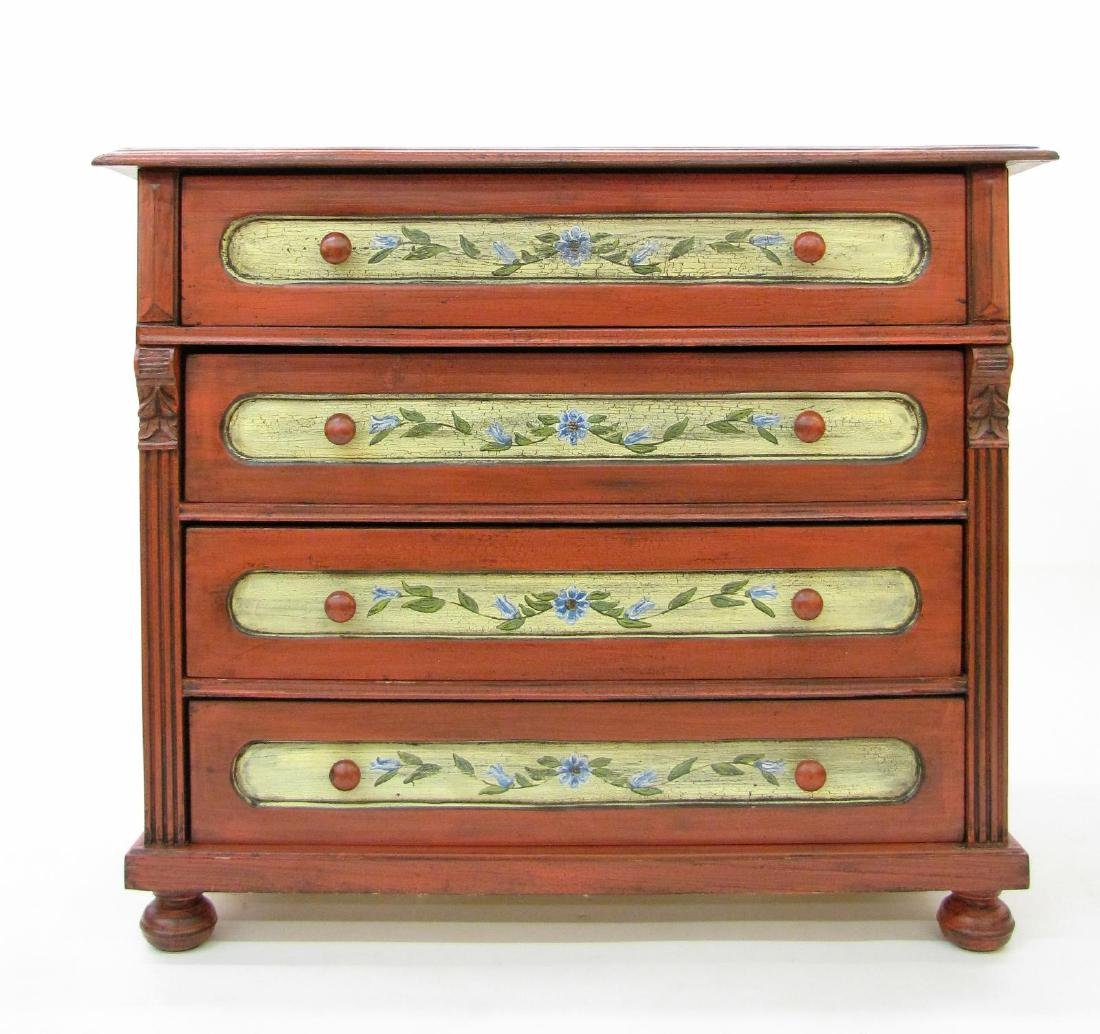 Painted Antique Style Chest - 3