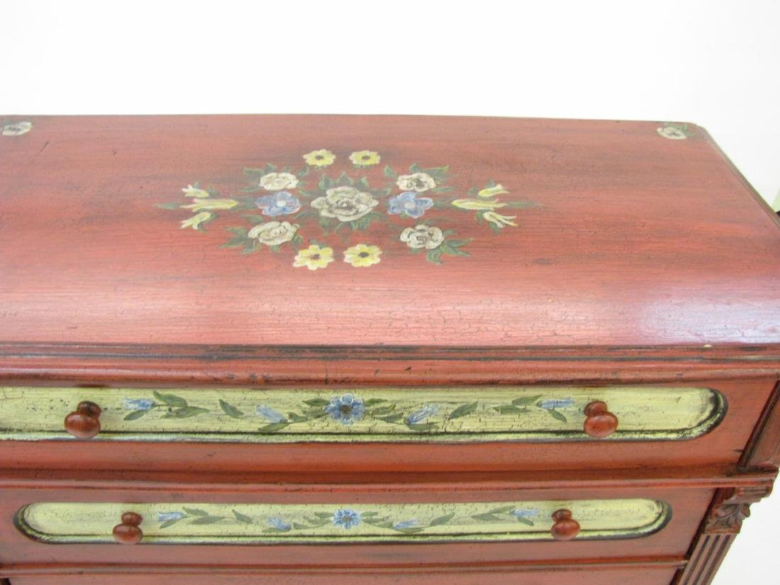 Painted Antique Style Chest - 5
