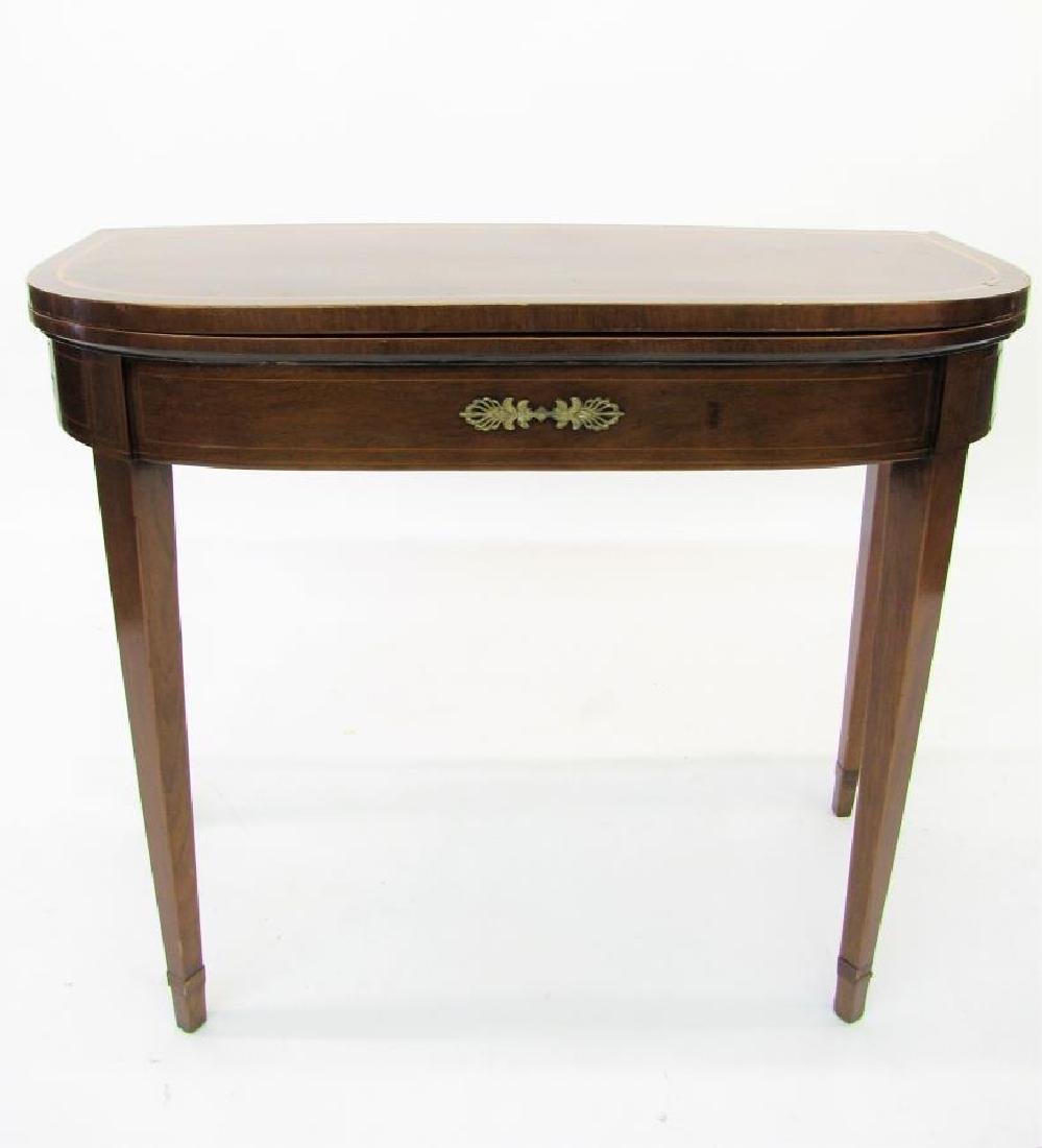 Tilt Top Gate Leg Game Table