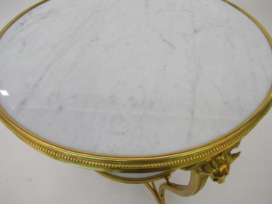 Two Tier Round Marble Top Table - 4