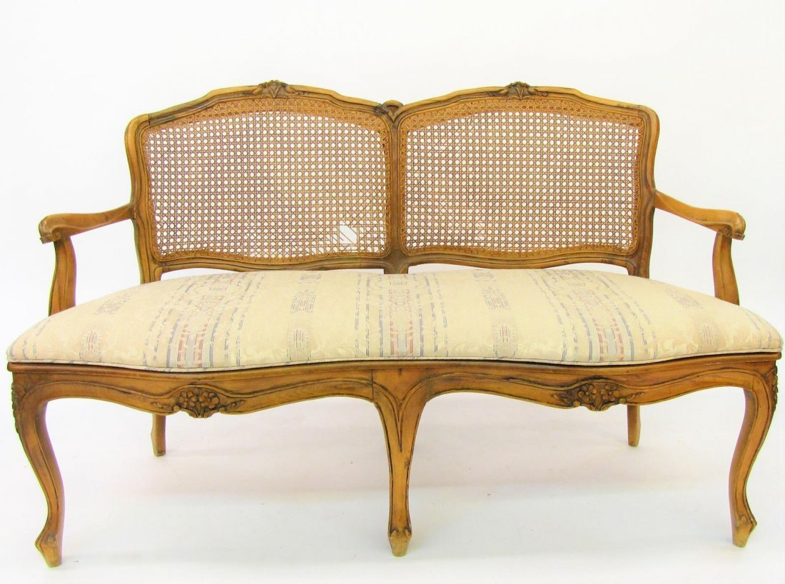 Cane Back and Seat Settee