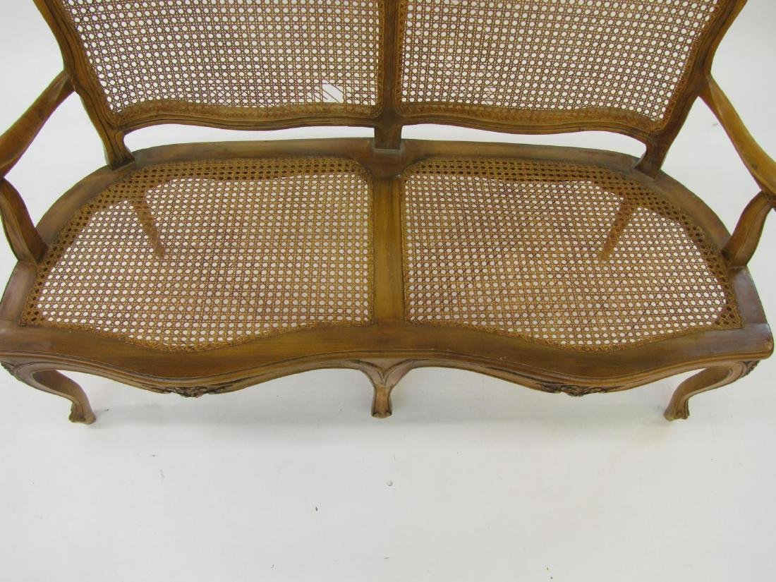 Cane Back and Seat Settee - 4