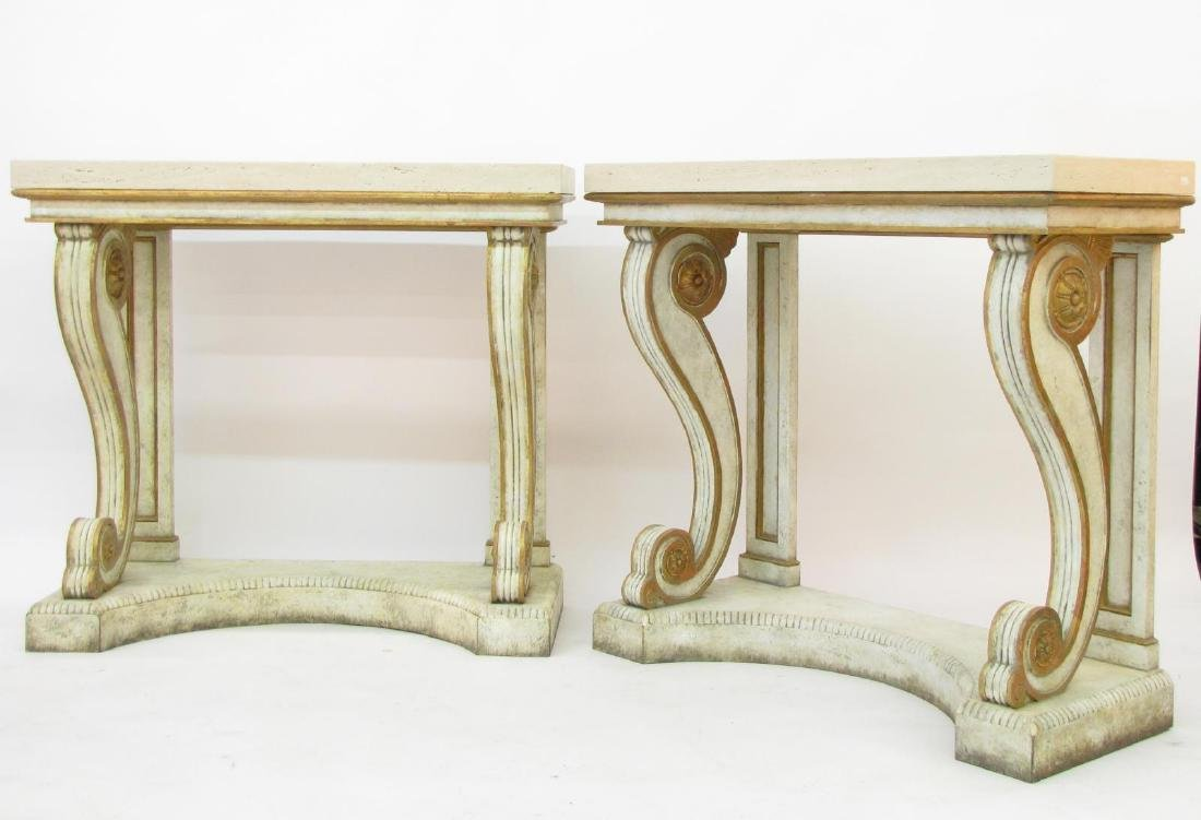 Pair of Neo-Classical Niermann Weeks Blenheim Cons