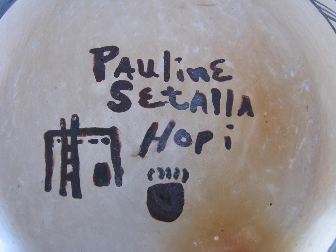 Pauline Setalla Hopi Pottery Jar - 3