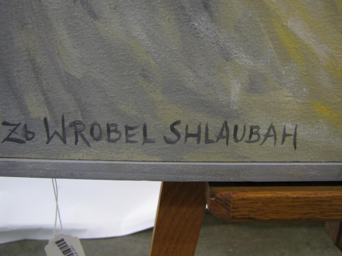 ZB Wrobel Shlaubah 44x27 Acry/C Woman in Hat - 2