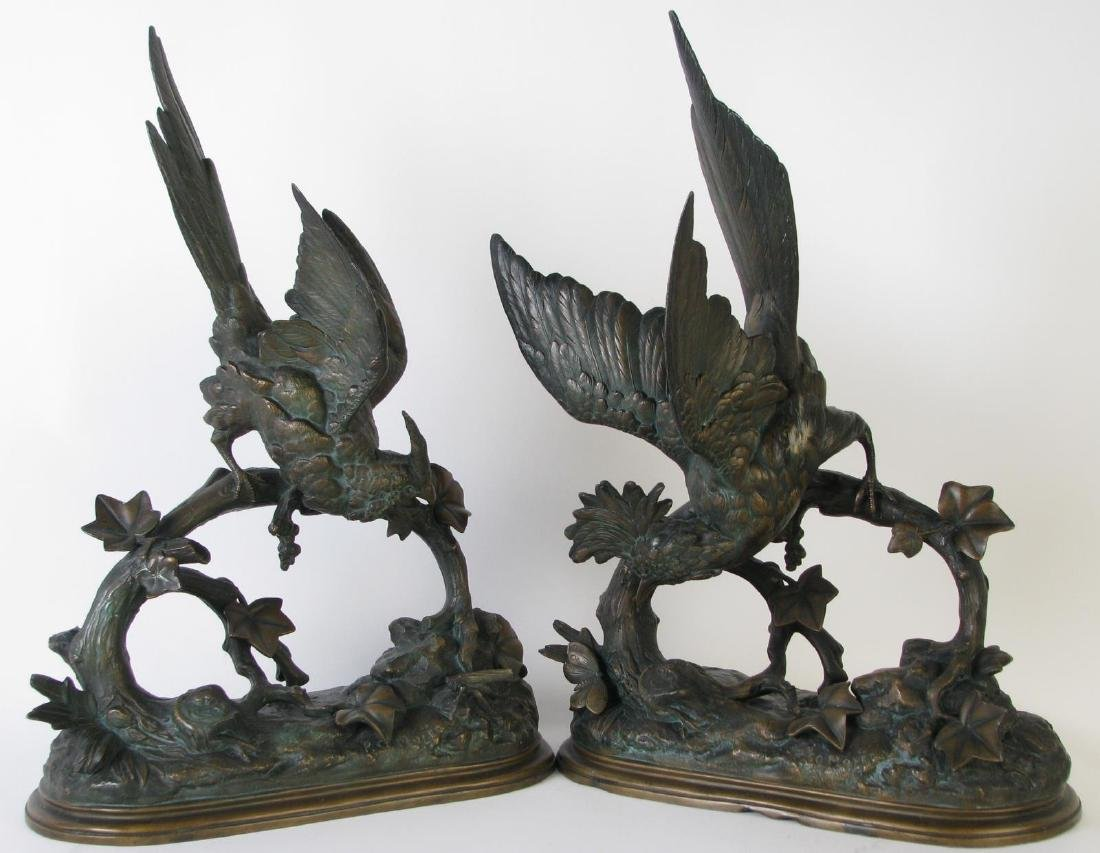 Two Paul Comolera Bird and Insect Sculptures