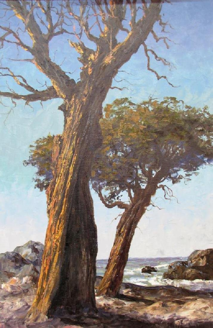Segundo Huertas 36x24 O/C Coastline with Oaks - 2