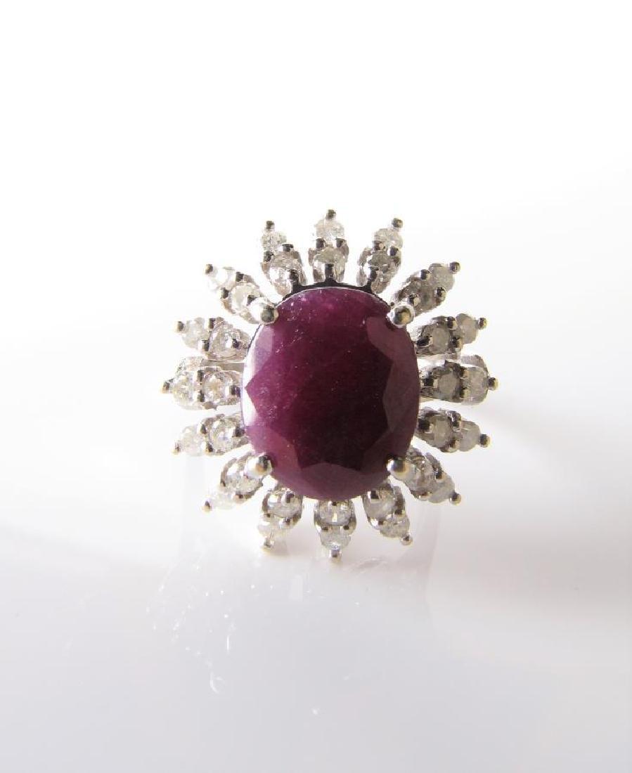 14K Yellow Gold Ruby/Diamond Ring