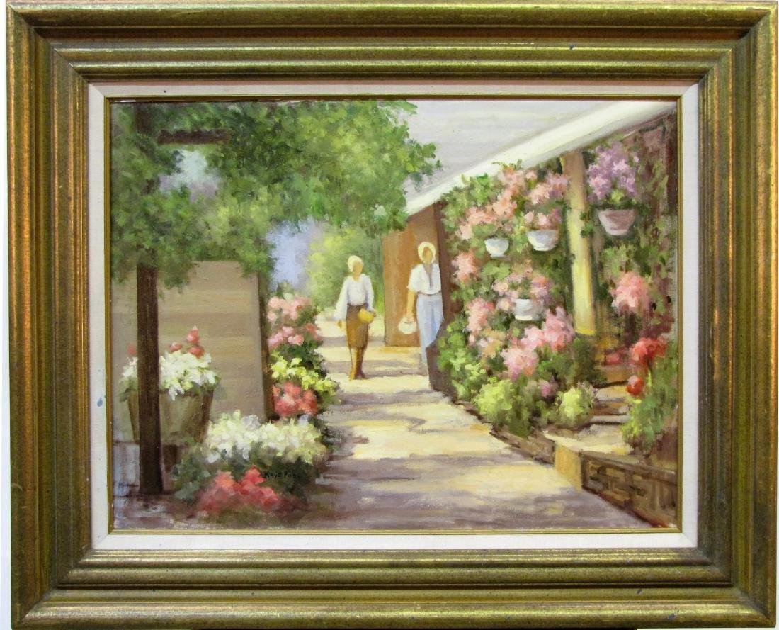 Kaye Pool 18x24 O/C Michael's Flower Shop