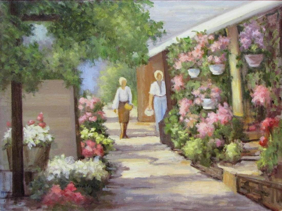Kaye Pool 18x24 O/C Michael's Flower Shop - 2