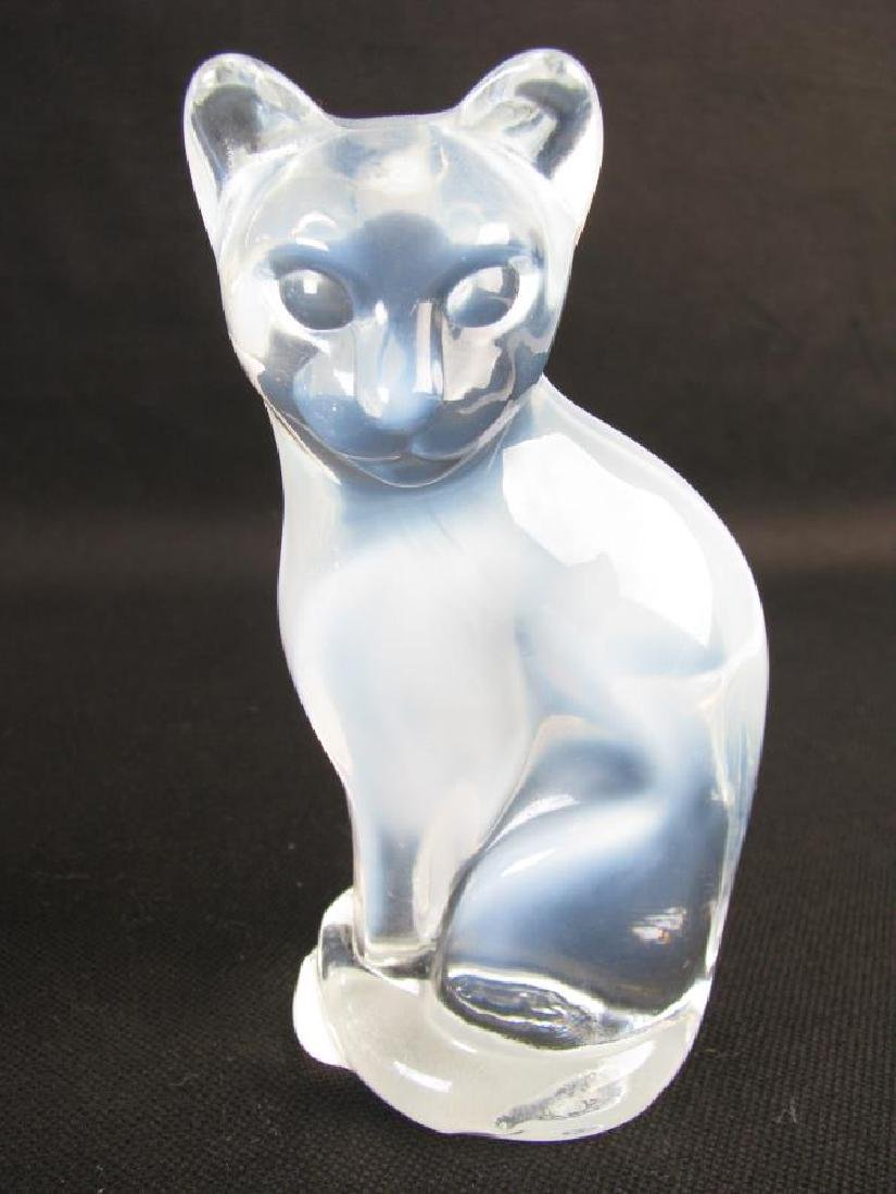 Collection of Crystal and Glass Cat Figures - 2