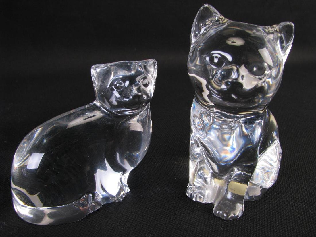 Collection of Crystal and Glass Cat Figures - 3