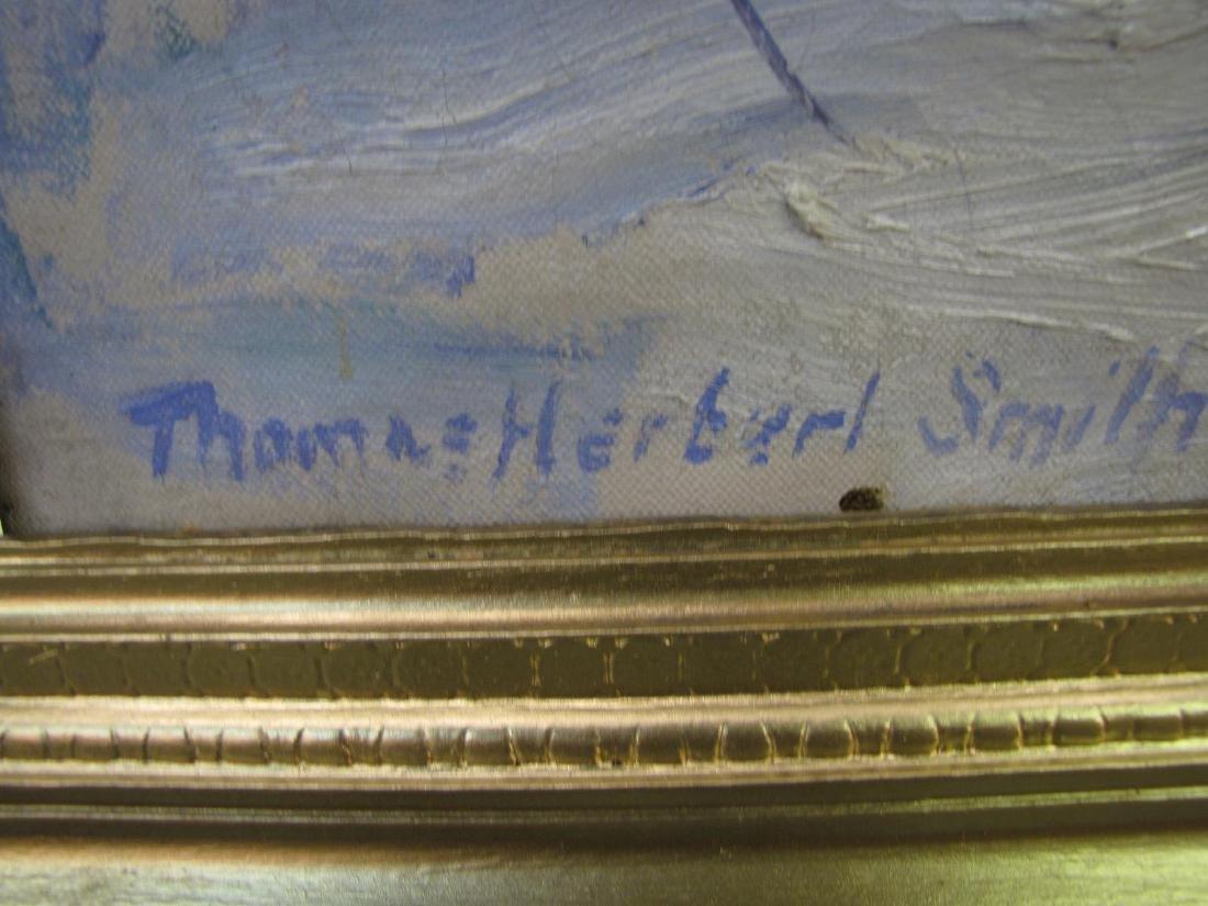 "Thos Herbert Smith 25x30 O/C ""Popes Pond"" - 7"