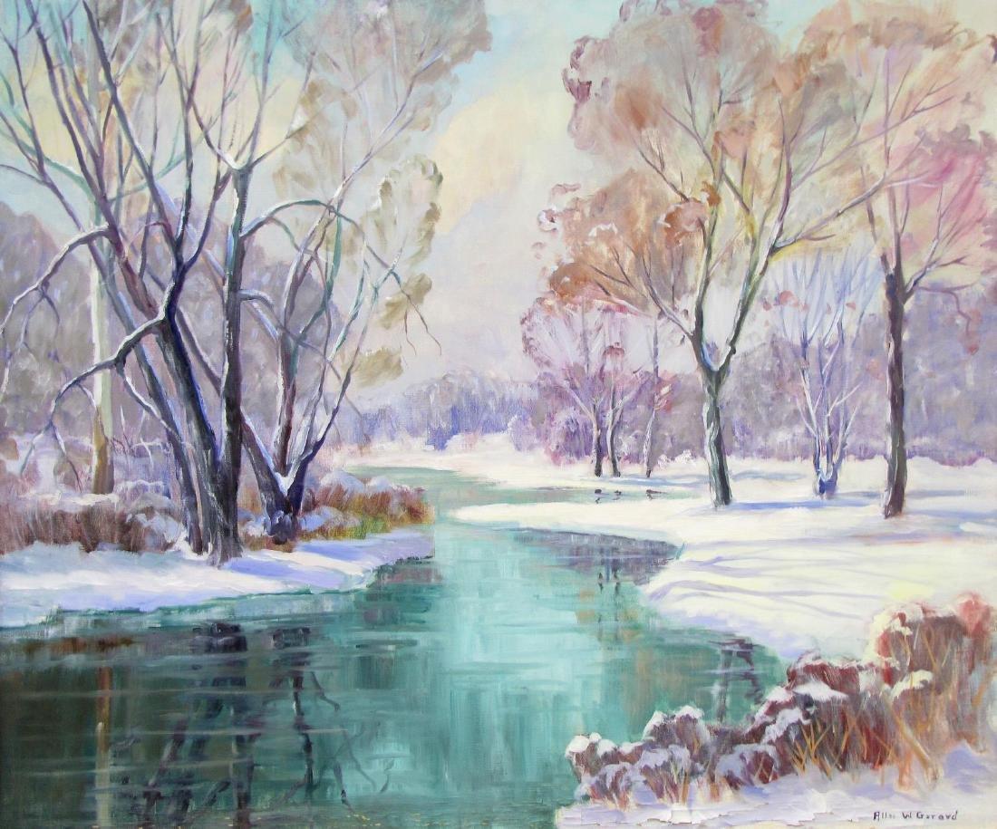 Allee W. Gerard 30x36 O/C Winter Pond - 2