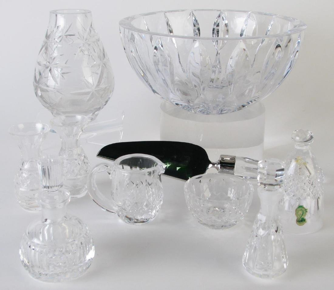 Group of Waterford and Miller Rogaska Crystal