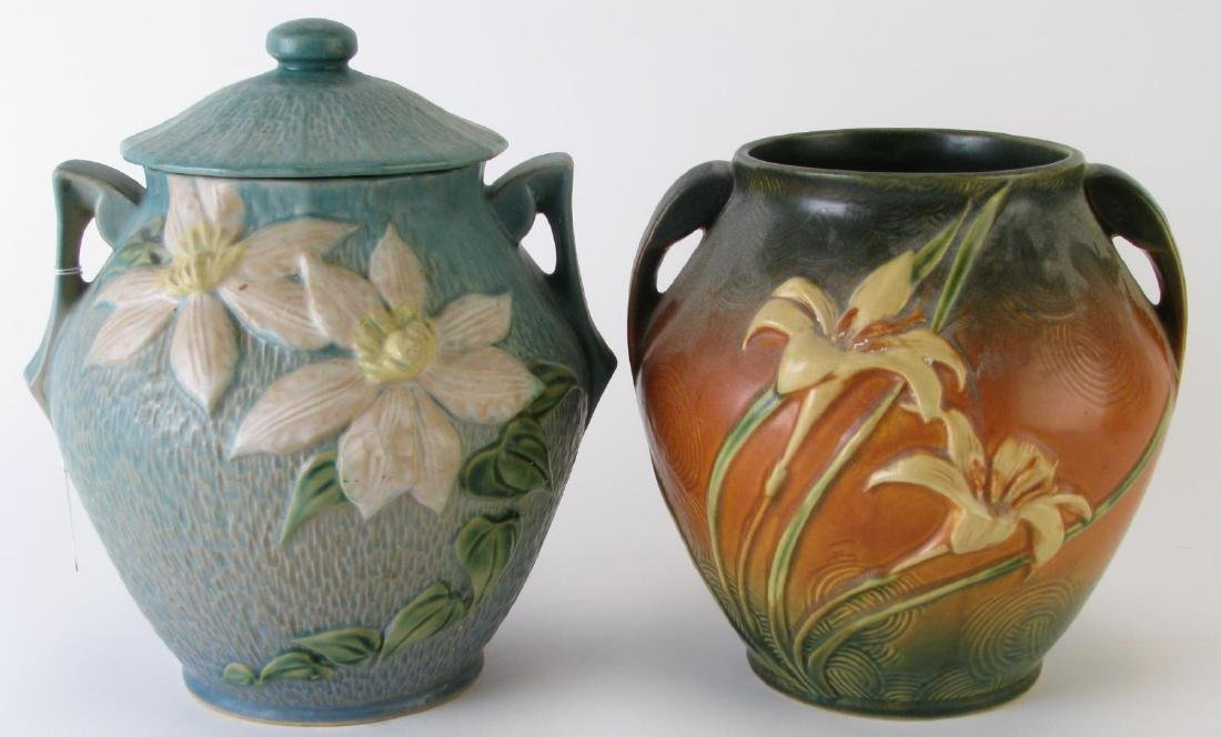 Roseville 'Magnolia' and 'Zephyr Lily' Cookie Jars