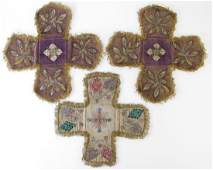 Three Victorian Embroidered Textiles