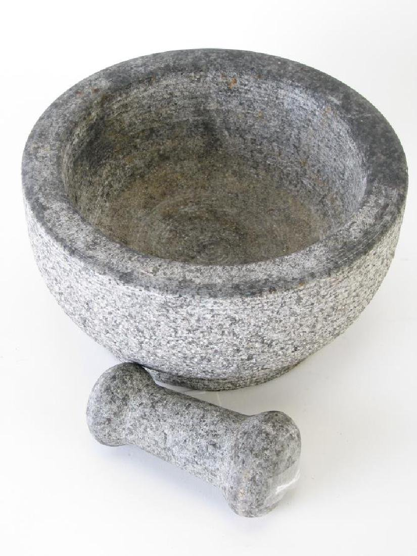Stone Carved Mortar and Pestle - 2