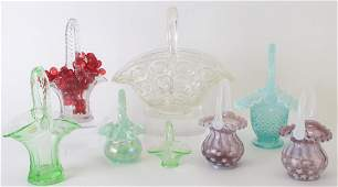 Group of Decorated Glass Baskets