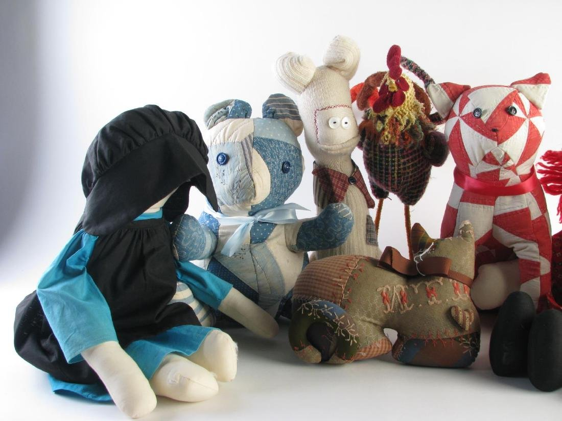 Group of Stuffed Animals and Dolls - 2