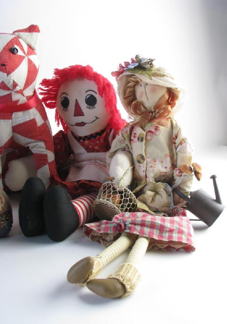 Group of Stuffed Animals and Dolls - 3