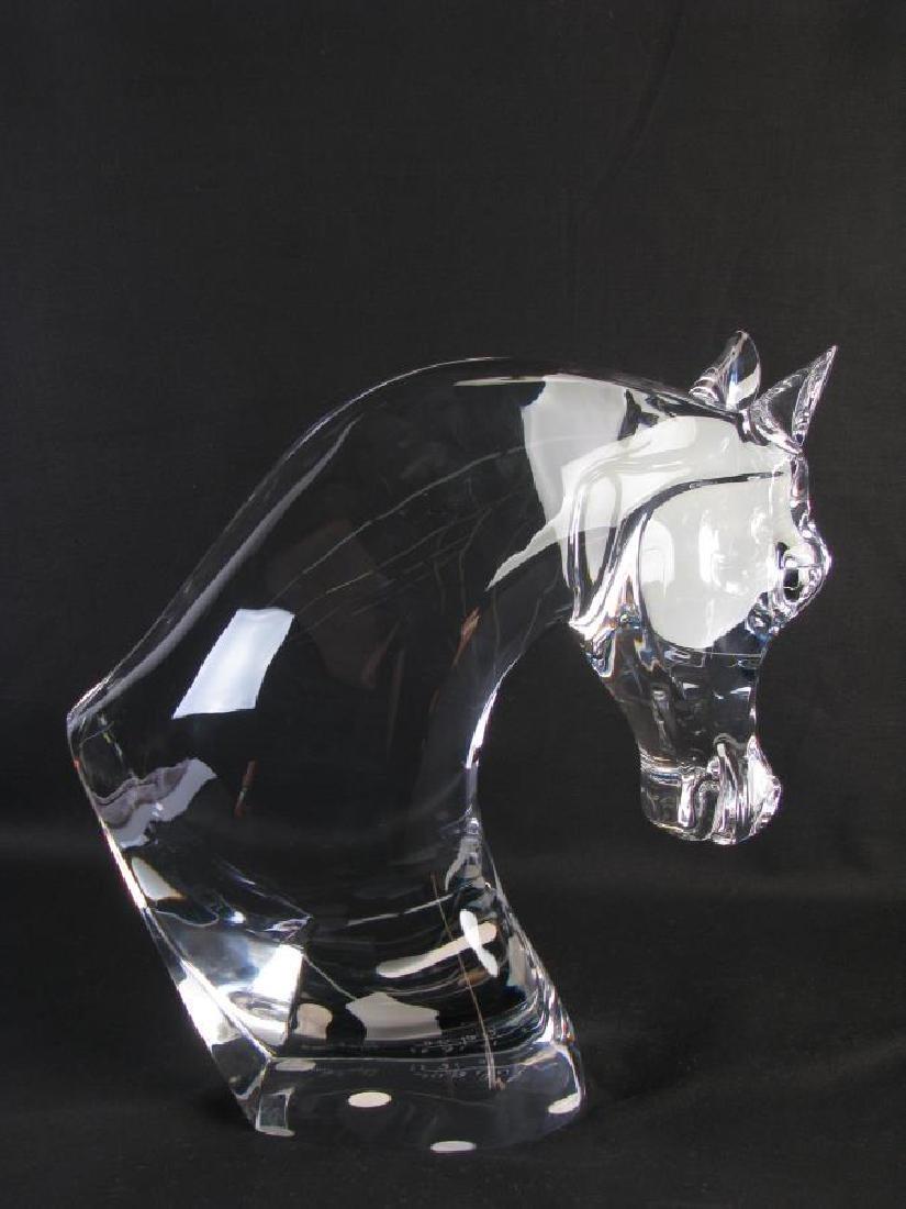 """Lalique Crystal """"Tete de Cheval"""" Horse Sculpture - 2"""