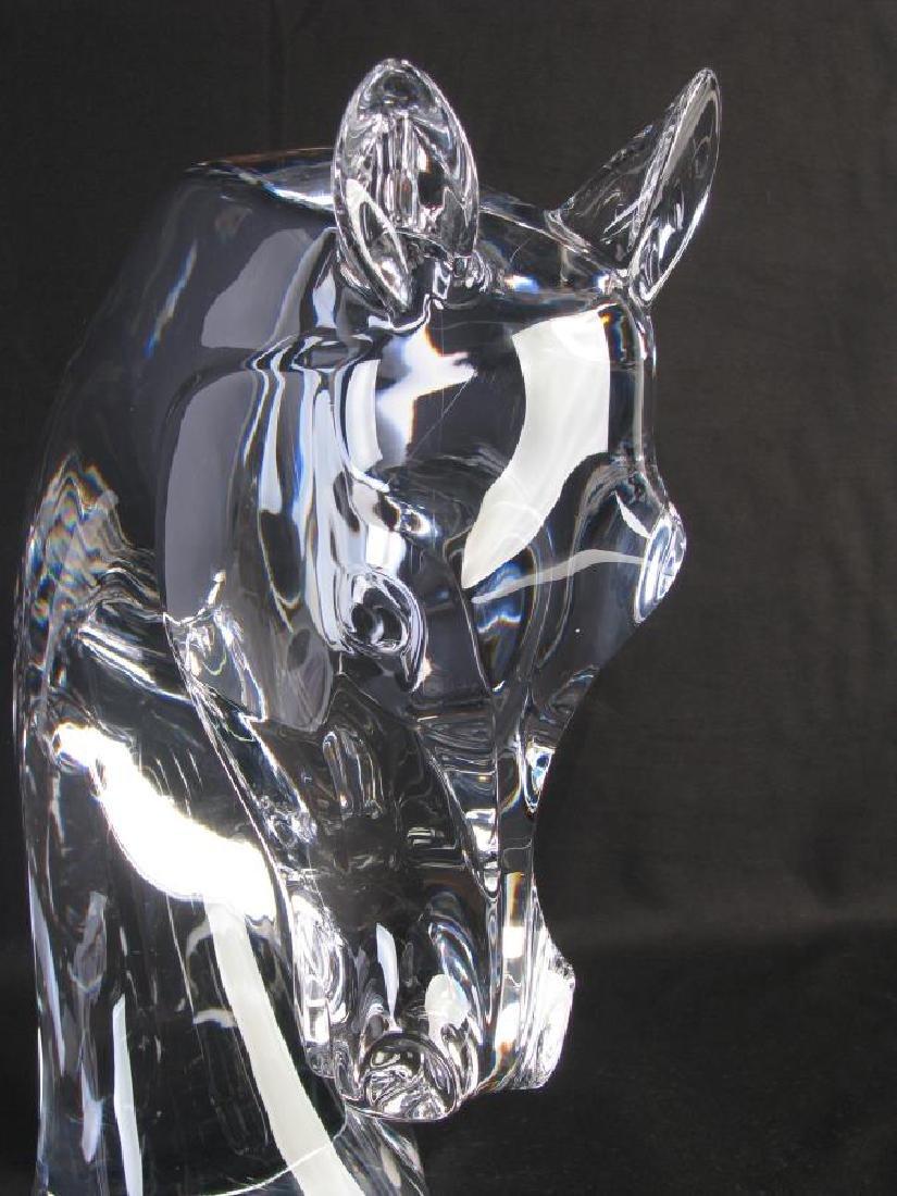 """Lalique Crystal """"Tete de Cheval"""" Horse Sculpture - 3"""
