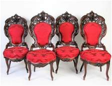 Set- Laminated Rosewood Side Chairs, Attrib Meeks