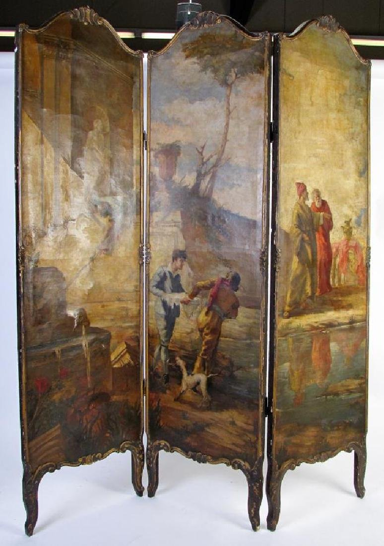 Antique 3-Panel Screen