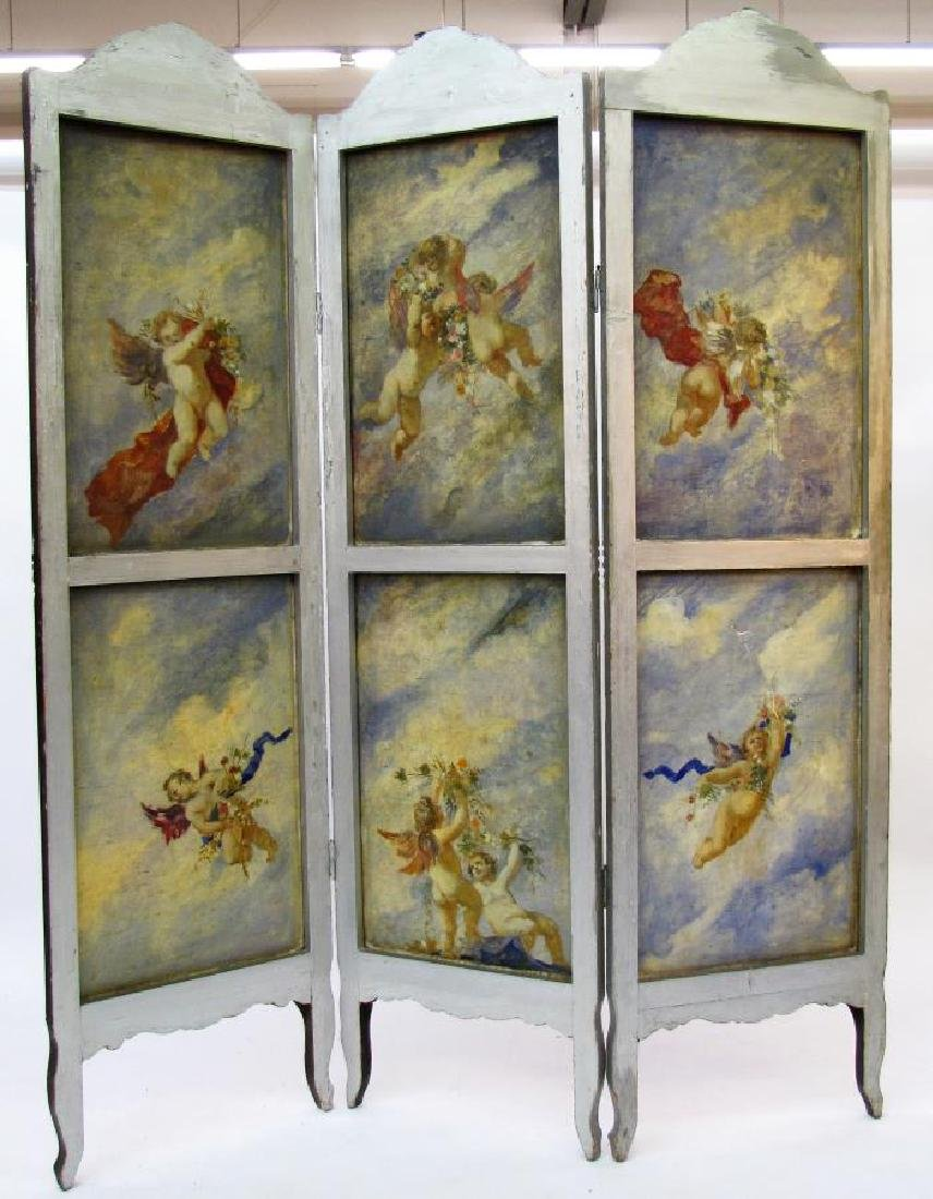 Antique 3-Panel Screen - 2