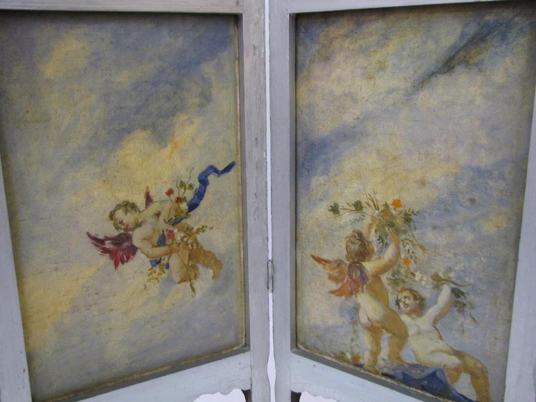 Antique 3-Panel Screen - 3