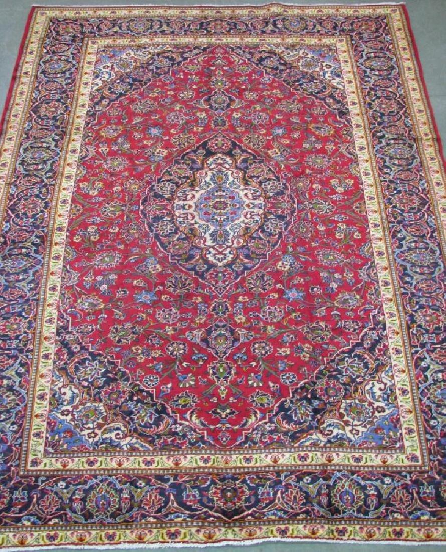 Handmade Kashan Room Size Rug