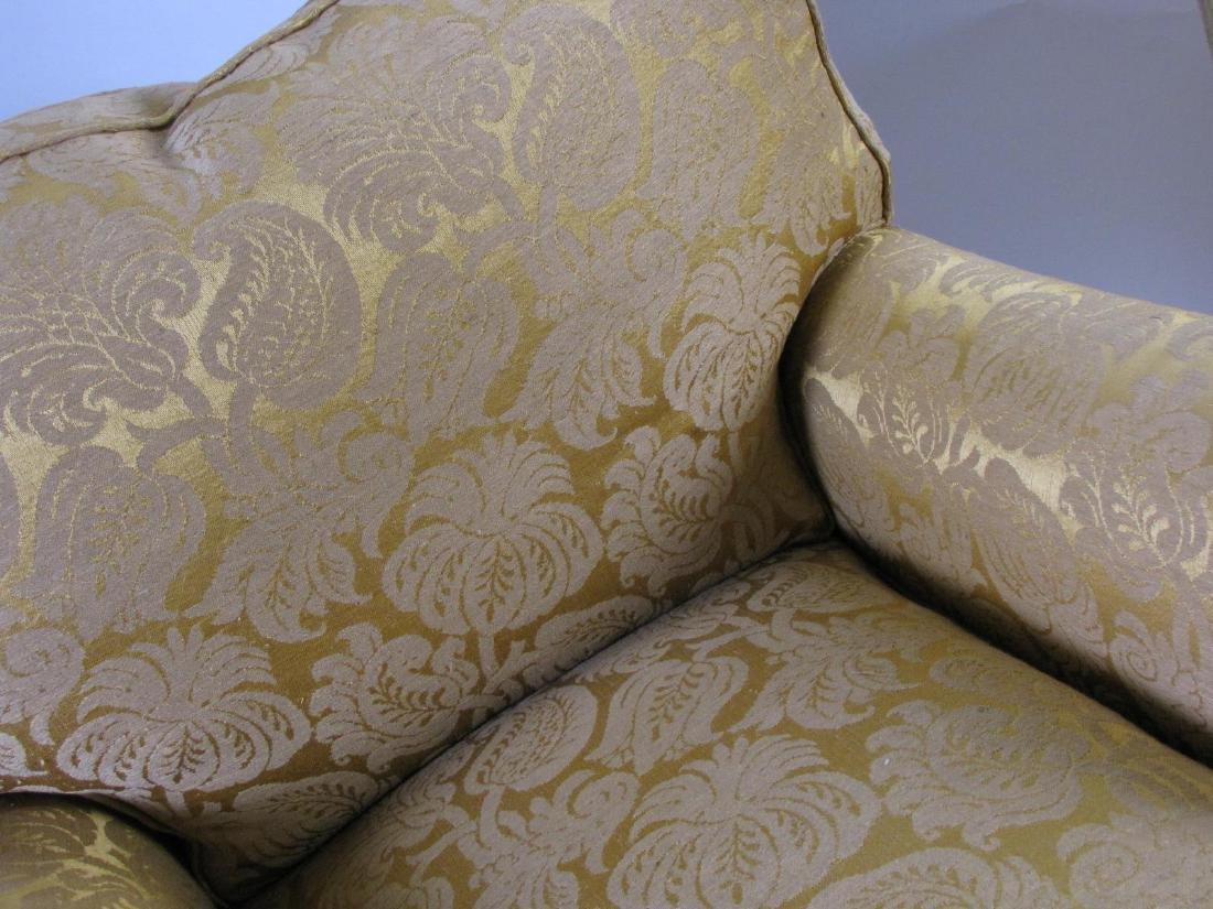 Two Upholstered Club Chairs with Ottomans - 3